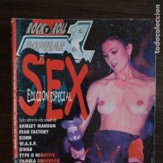 Revistas de música: POPULAR 1 # 289 - EDICIÓN ESPECIAL SEX (FEAR FACTORY, WASP, KORN, GWAR, PAMELA ANDERSON, ETC.). Lote 295776228