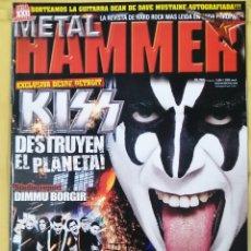 Revistas de música: REVISTA METAL HAMMER 265,DICIEMBRE 2009. Lote 295785043
