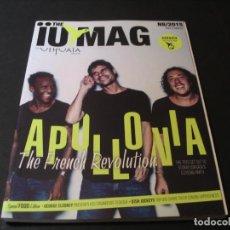 Revistas de música: REVISTA THE IUMAG USHUAÏA IBIZA APOLLONIA SUNNERY JAMES RYAN MARCIANO BEN PEARCE DJ 2015. Lote 295820798