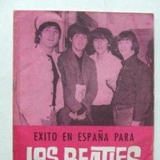 Revistas de música: ÉXITO EN ESPAÑA PARA LOS BEATLES FOTOS ACTUACIONES 1965 EDICIONES ESTE 1965. Lote 296585658
