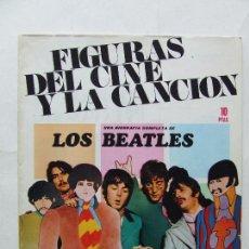 Revistas de música: FIGURAS DEL CINE Y LA CANCION UNA BIOGRAFIA COMPLETA DE LOS BEATLES ORIGINAL DE 1969. Lote 296585813