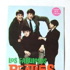 Revistas de música: FIGURAS DE LA CANCION LOS FABULOSOS BEATLES BIOGRAFIA ILUSTRADA 1964 SELLO THE OFICIAL BEATLES FANS. Lote 296586663