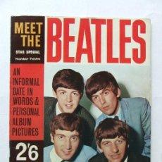 Revistas de música: REVISTA MONOGRAFICA MEET THE BEATLES TONY BARROW ORIGINAL UK 1963. Lote 296586878