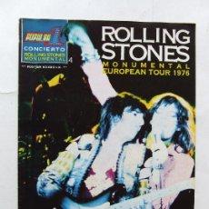 Revistas de música: POPULAR 1 CONCIERTO ROLLING STONES MONUMENTAL 4 BARCELONA 1976. Lote 296587658
