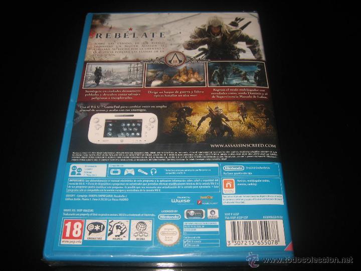 Nintendo Wii U: ASSASSINS CREED III NINTENDO WII U PAL ESPAÑA PRECINTADO - Foto 2 - 44154636