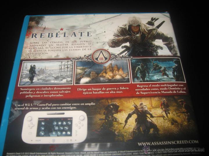 Nintendo Wii U: ASSASSINS CREED III NINTENDO WII U PAL ESPAÑA PRECINTADO - Foto 3 - 44154636