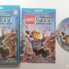 Nintendo Wii U: LEGO CITY UNDERCOVER PRIMERA EDICION PAL WII U WIIU CASTELLANO ESPAÑA COMO NUEVO. Lote 64624375