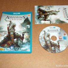 Nintendo Wii U: ASSASSIN'S CREED III, COMPLETO PARA NINTENDO WII U , PAL. Lote 93039245