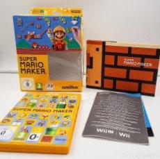Nintendo Wii U: SUPER MARIO MAKER JUEGO + ARTBOOK NINTENDO WII U WIIU ESPAÑA.COMBINO ENVÍO. Lote 100515803