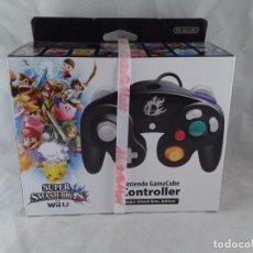 Nintendo Wii U: NINTENDO WIIU MANDO CONTROLLER NEGRO SUPER SMASH BROS NUEVO SEALED PRECINTADO R6803. Lote 104075291