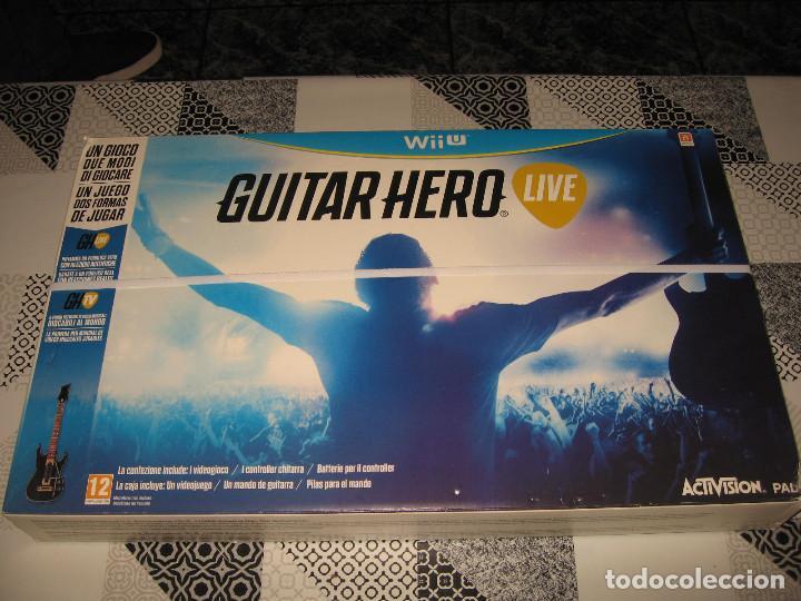 GUITAR HERO LIVE CON GUITARRA NINTENDO WII U PAL ESPAÑA PRECINTADO (Juguetes - Videojuegos y Consolas - Nintendo - Wii U)