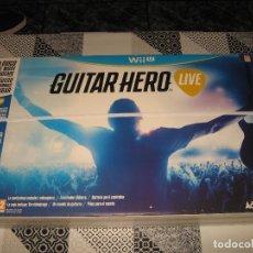 Nintendo Wii U: GUITAR HERO LIVE CON GUITARRA NINTENDO WII U PAL ESPAÑA PRECINTADO. Lote 108641723