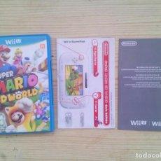 Nintendo Wii U: NINTENDO WII U SUPER MARIO 3D WORLD - CAJA E INSTRUCCIONES - SIN JUEGO. Lote 130998944