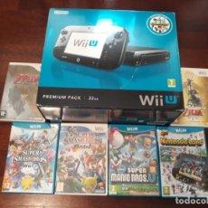 Nintendo Wii U: CONSOLA WIIU PREMIUM PACK 32 GB COMPLETA ORIGINAL CON 6 JUEGOS + 2 MANDOS. Lote 145647910