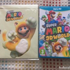 Nintendo Wii U: SUPER MARIO 3D WORLD NINTENDO WIIU WII-U + FUNDA LIMITADA GATO NUEVA KREATEN. Lote 153728046