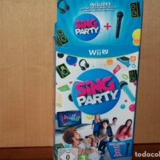Nintendo Wii U: PACK SING PARTY - JUEGO CONSOLA WII U CON MICROFONO TODO COMO NUEVO. Lote 154134818