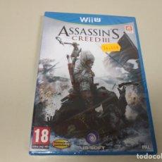 Nintendo Wii U: JJ-ASSASSIN´S CREED III NINTENDO WII U VERSION ESPAÑA NUEVO PRECINTADO . Lote 171591080