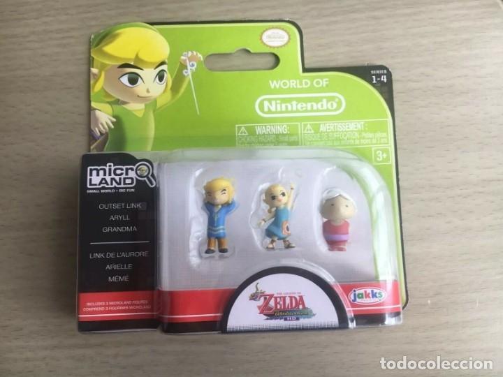 MICROLAND ZELDA - OUTSET LINK , ARYLL Y GRANDMA - NUEVO EN BLISTER JAKKS PRECINTADO (Juguetes - Videojuegos y Consolas - Nintendo - Wii U)