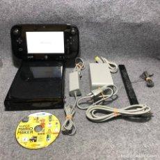 Nintendo Wii U: CONSOLA NINTENDO WII U NEGRA 32GB+SUPER MARIO MAKER. Lote 192109956
