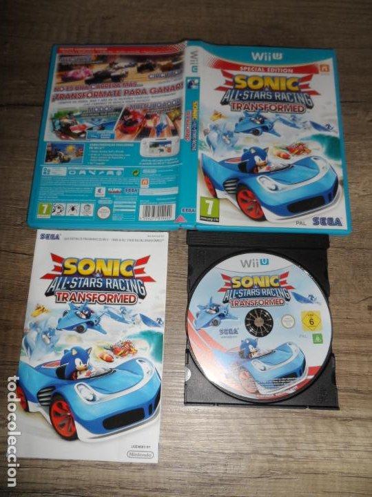NINTENDO WII U SONIC ALL STARS RACING TRANSFORMED PAL ESP COMPLETO (Juguetes - Videojuegos y Consolas - Nintendo - Wii U)