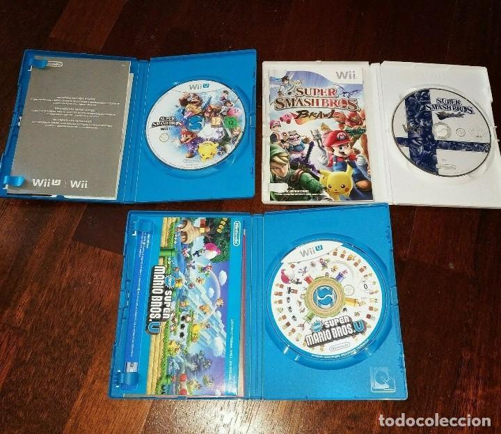 Nintendo Wii U: videojuegos super smash bros y super mario bross lote de 3 juegos - Foto 2 - 215792806
