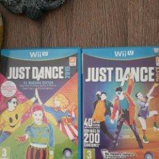Nintendo Wii U: LOTE 2 JUEGOS JUST DANCE DESCATALOGADOS DIFICIL RARO 2015 Y 2017. Lote 219600166