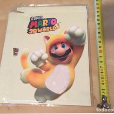 Nintendo Wii U: SUPER MARIO 3D WORLD - FUNDA PROMOCIONAL NUEVO - SIN USAR - 2013 NINTENDO WII U. Lote 221866190