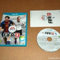 Nintendo Wii U: FIFA 13, COMPLETO PARA NINTENDO WII U , PAL. Lote 238599480