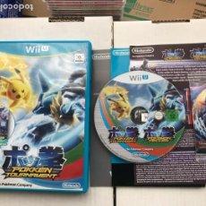Nintendo Wii U: POKKEN TOURNAMENT POKEMON TEKKEN CON TARJETA AMIIBO MEWTWO CARD NINTENDO WIIU WII U KREATEN. Lote 261022575