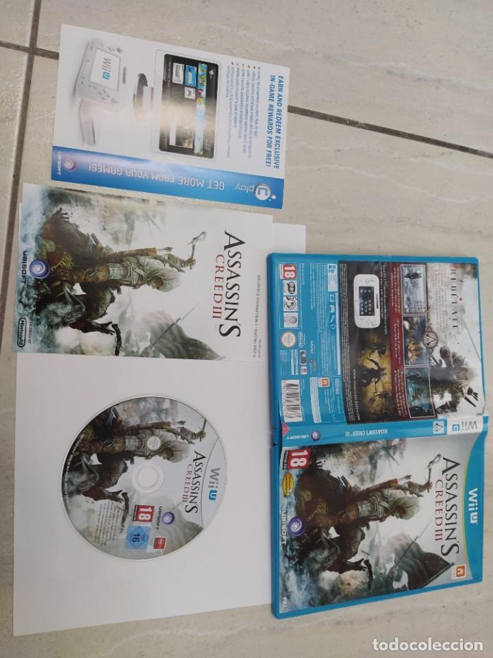 ASSASSINS CREED 3 III NINTENDO WIIU COMPLETO PAL-ESPAÑA ORIGINAL 100% (Juguetes - Videojuegos y Consolas - Nintendo - Wii U)