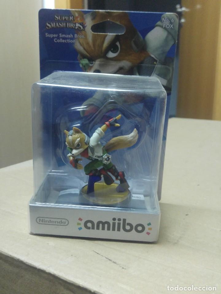 AMIIBO SMASH BROS 6 FOX NEW , NUEVO NINTENDO WIIU 3DS (Juguetes - Videojuegos y Consolas - Nintendo - Wii U)