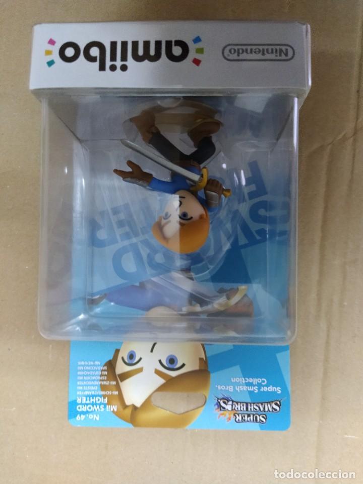AMIIBO MII SWORD FIGHTER 49 NEW , NUEVO NINTENDO WIIU (Juguetes - Videojuegos y Consolas - Nintendo - Wii U)