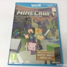 Nintendo Wii U: MINECRAFT WI U EDITION. Lote 261981255