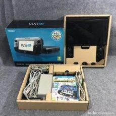 Nintendo Wii U: CONSOLA NINTENDO WII U PREMIUM PACK NEGRO 32GB CON CAJA. Lote 271993803