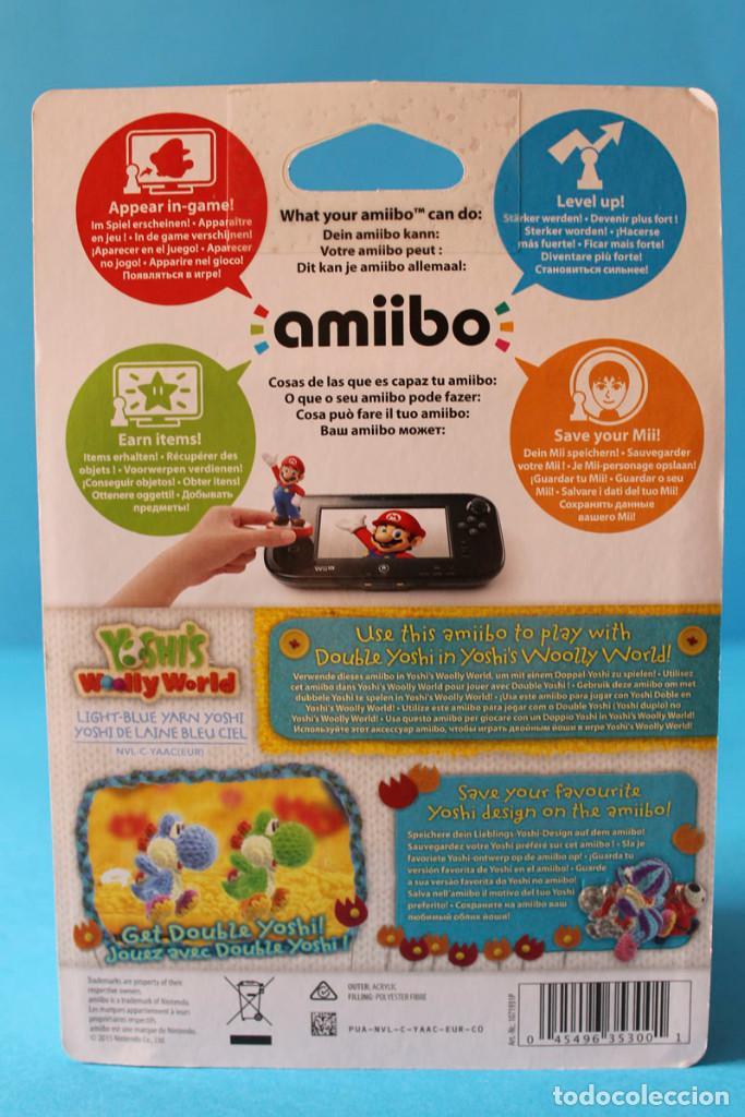 Nintendo Wii U: Nintendo Amiibo - Yoshis Wolly World Azul - Nuevo - Foto 3 - 274827918