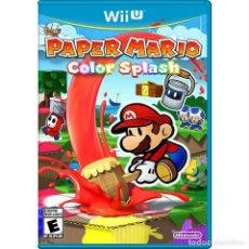 Nintendo Wii U: PAPER MARIO COLOR SPLASH - WII U. Lote 285828968