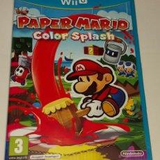 Nintendo Wii U: PAPER MARIO COLOR SPLASH NINTENDO WII U PAL ESPAÑA COMPLETO. Lote 294939623