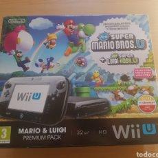 Nintendo Wii U: CAJA NINTENDO WII U SUPER MARIO BROS U. Lote 295788678
