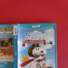 Nintendo Wii U: CARLITOS Y SNOOPY: EL VIDEOJUEGO WIIU. Lote 295814818