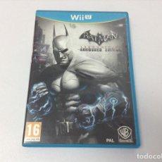 Nintendo Wii U: BATMAN ARKHAM CITY ARMORED EDITION. Lote 296856093