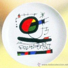 Nuevo: PLATO DE PORCELANA 20 CM, REPRODUCCIÓN DE JOAN MIRO. Lote 243646905