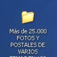 Nuevo: DVD CON MÁS DE 25,000 DIGITALIZACIONES EN 132 CARPETAS, FOTOS, POSTALES Y CARTELES, VARIOS TEMAS.. Lote 26834244