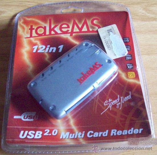 MULTI CARD READER TAKEMS USB - MULTI TARJETA 12 EN 1 - PRECINTO ORIGINAL (Artículos Nuevos)