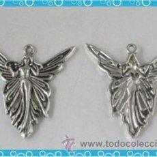 Nuevo: BONITO COLGANTE ANGEL DE PLATA GRANDE. CHARM, ABALORIO PARA FABRICACION DE JOYERIA ARTESANAL. Lote 234500985