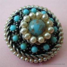 Nuevo - Broche .. Metal plateado y todo perlas - 27364095