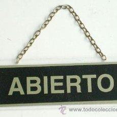 Nuevo: CARTEL DE ABIERTO - CERRADO. Lote 28919258