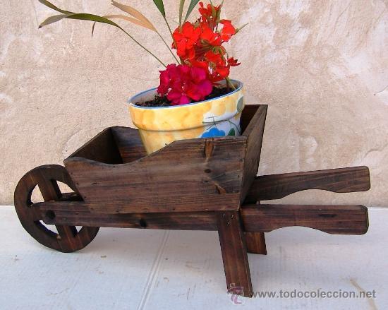 Carretilla de madera apero de labranza jardin comprar for Carretillas de madera para jardin
