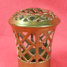 Nuevo: TAPA DE LATÓN LAMPARA BERGER DIFUSOR DE PERFUME 1 ª MITAD S XX. Lote 34561261