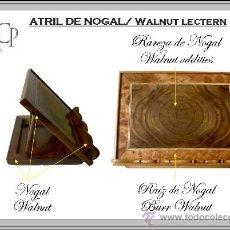 Nuevo: ATRIL DE NOGAL. WALNUT LECTERN. Lote 34588453