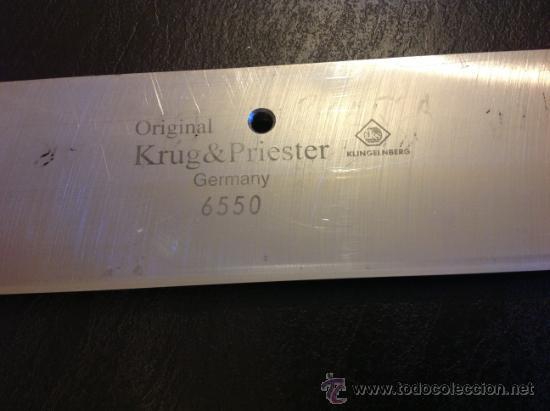 Nuevo: CUCHILLA IMPRENTA ? ORIGINAL KRUG & PRIESTER.GERMANY 6550.KLINGELNBERG. 75,5 cm x 8,5 cm. - Foto 2 - 35554332